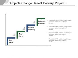 Subjects Change Benefit Delivery Project Financing Hardware Development