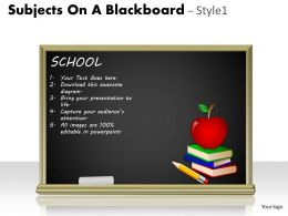 Subjects On A Blackboard Style 1 PPT 10