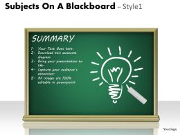 Subjects On A Blackboard Style 1 PPT 11