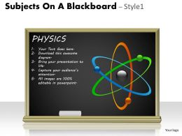 Subjects On A Blackboard Style 1 PPT 1