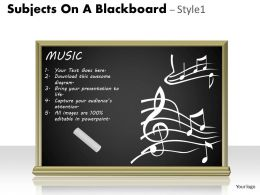 Subjects On A Blackboard Style 1 PPT 2