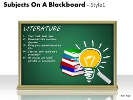 Subjects On A Blackboard Style 1 PPT 3