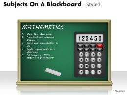 Subjects On A Blackboard Style 1 PPT 4