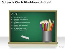 Subjects On A Blackboard Style 1 PPT 6