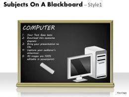 Subjects On A Blackboard Style 1 PPT 8