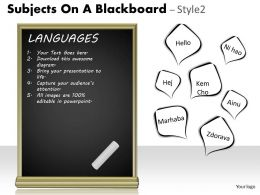 Subjects On A Blackboard Style 2 PPT 3