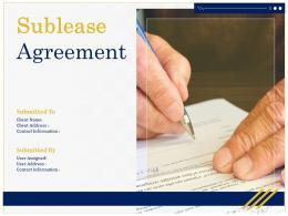 Sublease Agreement Powerpoint Presentation Slides