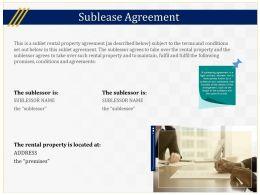 Sublease Agreement Slide Ppt Powerpoint Presentation Slides Design Inspiration