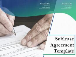 Sublease Agreement Template Powerpoint Presentation Slides