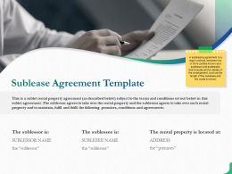Sublease Agreement Template Slide Ppt Powerpoint Presentation Slides Styles