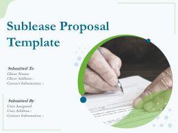Sublease Proposal Template Powerpoint Presentation Slides