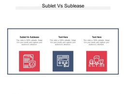 Sublet Vs Sublease Ppt Powerpoint Presentation Slides Files Cpb