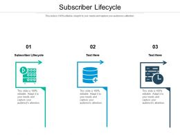 Subscriber Lifecycle Ppt Powerpoint Presentation Icon Deck Cpb