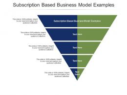 Subscription Based Business Model Examples Ppt Powerpoint Presentation Show Cpb