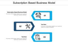 Subscription Based Business Model Ppt Powerpoint Presentation Outline Introduction Cpb