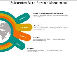 Subscription Billing Revenue Management Ppt Powerpoint Presentation Example Cpb