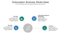 Subscription Business Model Ideas Ppt Powerpoint Presentation Outline Rules Cpb
