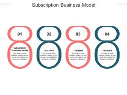 Subscription Business Model Ppt Powerpoint Presentation File Visuals Cpb