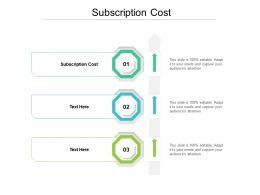 Subscription Cost Ppt Powerpoint Presentation Infographics Slide Portrait Cpb