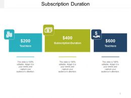 Subscription Duration Ppt Powerpoint Presentation Icon Master Slide Cpb