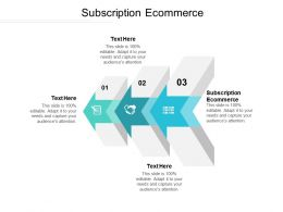 Subscription Ecommerce Ppt Powerpoint Presentation Ideas Outline Cpb