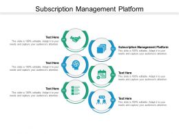 Subscription Management Platform Ppt Powerpoint Presentation Infographics Examples Cpb