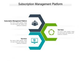 Subscription Management Platform Ppt Powerpoint Presentation Styles Background Image Cpb