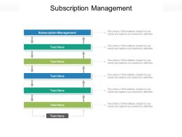 Subscription Management Ppt Powerpoint Presentation Ideas Summary Cpb