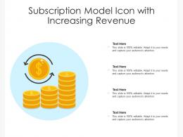 Subscription Model Icon With Increasing Revenue