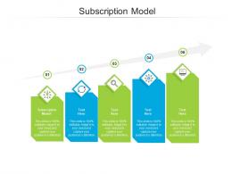 Subscription Model Ppt Powerpoint Presentation Show Maker Cpb