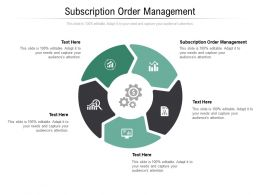 Subscription Order Management Ppt Powerpoint Presentation Infographics Background Cpb