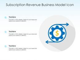 Subscription Revenue Business Model Icon