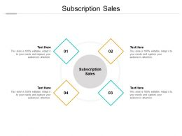 Subscription Sales Ppt Powerpoint Presentation Model Elements Cpb