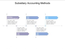 Subsidiary Accounting Methods Ppt Powerpoint Presentation File Ideas Cpb