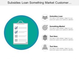 Subsidies Loan Something Market Customer Perception Position Product