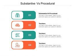 Substantive Vs Procedural Ppt Powerpoint Presentation Outline Inspiration Cpb