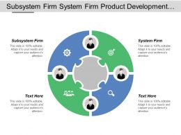 Subsystem Firm System Firm Product Development Evaluation Validation