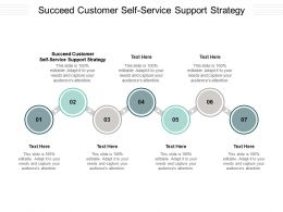 Succeed Customer Self Service Support Strategy Ppt Powerpoint Presentation Professional Brochure Cpb