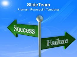 Success And Failure Business Signpost Powerpoint Templates Ppt Themes And Graphics 0313