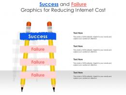 Success And Failure Graphics For Reducing Internet Cost Infographic Template