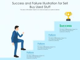 Success And Failure Illustration For Sell Buy Used Stuff Infographic Template