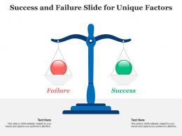 Success And Failure Slide For Unique Factors Infographic Template