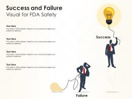 Success And Failure Visual For FDA Safety Infographic Template