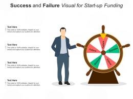 Success And Failure Visual For Start Up Funding Infographic Template