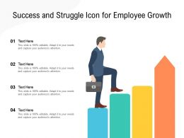Success And Struggle Icon For Employee Growth