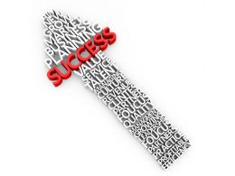 Success Arrow Graphic To Show Business Growth Stock Photo