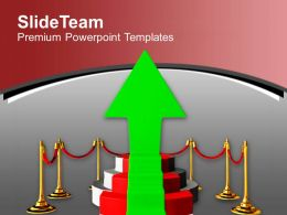 Success Arrow On Podium Winner Powerpoint Templates Ppt Themes And Graphics 0313