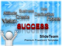 Success At Forefront Business Concept Powerpoint Templates PPT Themes And Graphics 0113