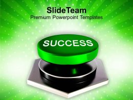 Success Button Technology Profit Powerpoint Templates Ppt Themes And Graphics 0113
