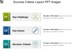Success Criteria Layout Ppt Images